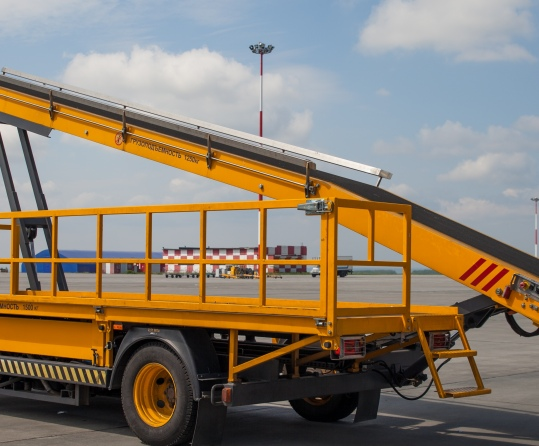 The KLS self-propelled belt loader is designed for baggage, cargo and mail  loading and unloading in the baggage hold of an aircraft.